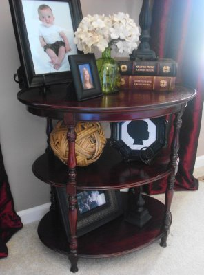 antique table redo Goodwill
