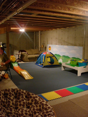Our Unfinished Finished Basement From Thrifty Decor Chick