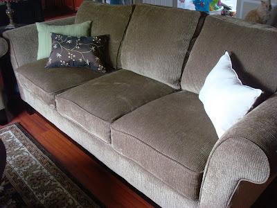 brown sofa placemat pillows