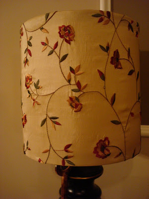 Recover lampshade with fabric