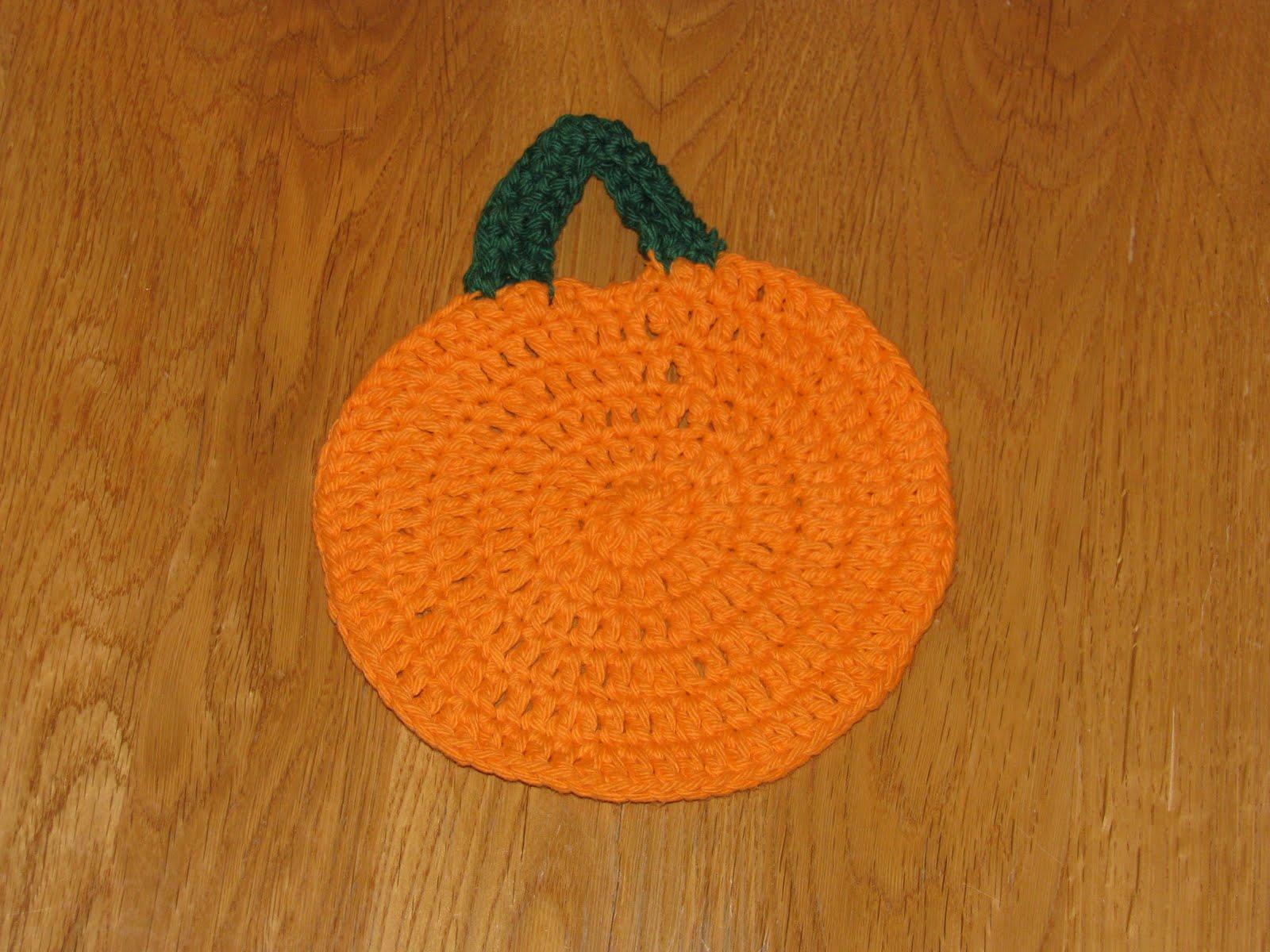 Craft Attic Resources: Pumpkin Dishcloth
