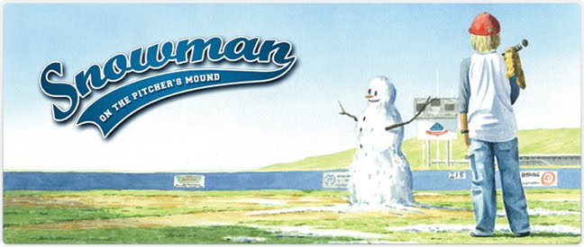Snowman On The Pitcher's Mound