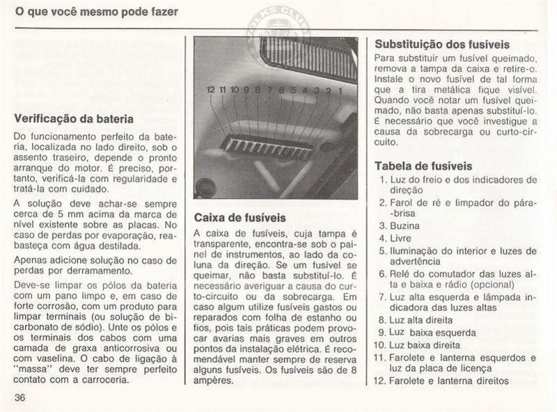 Volks Clube do Ceará: Manual Fusca 77-78-79-80
