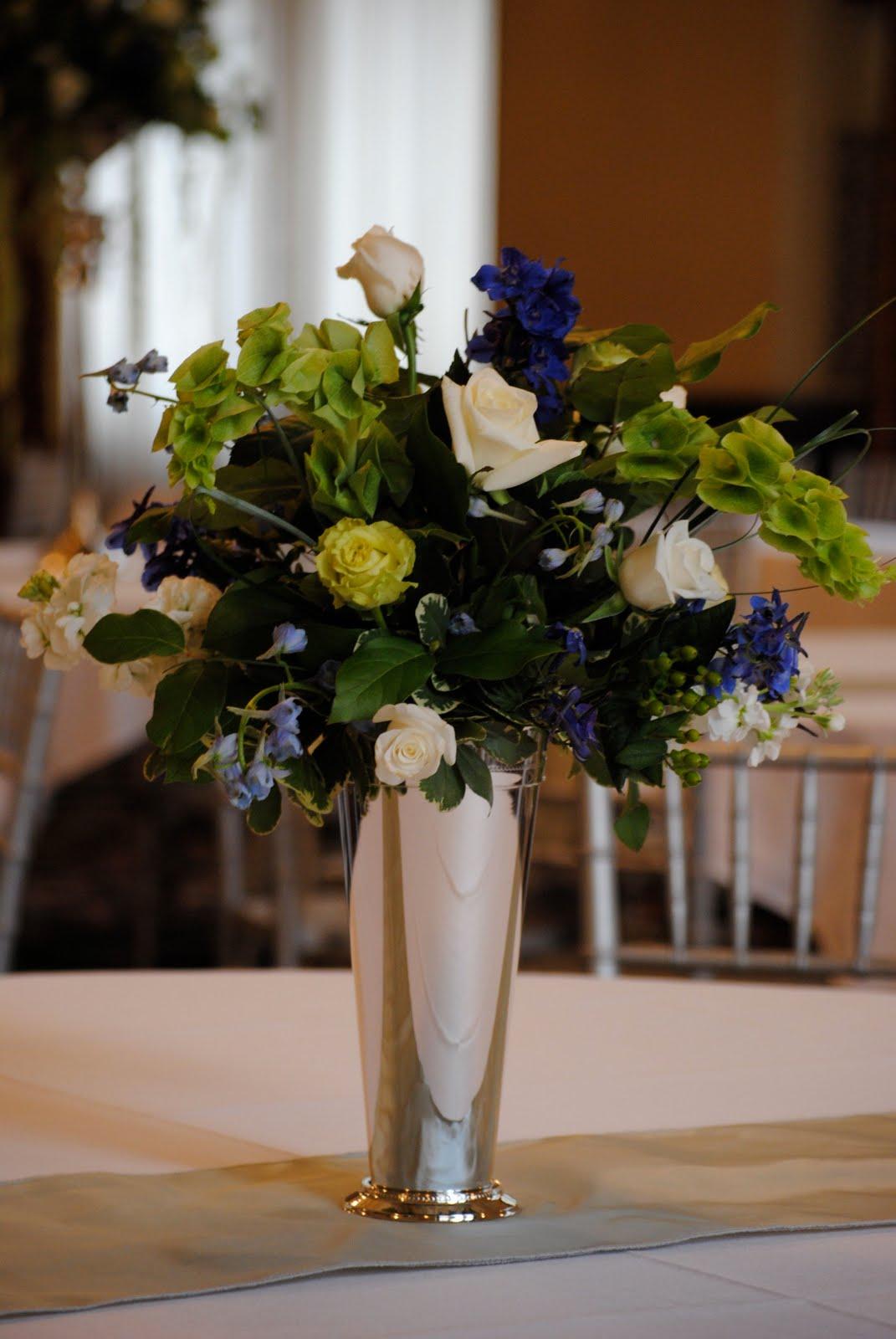 Prestigious Petals Floral The Blog Upscale St Paul Wedding Slate Blue Silver Green White