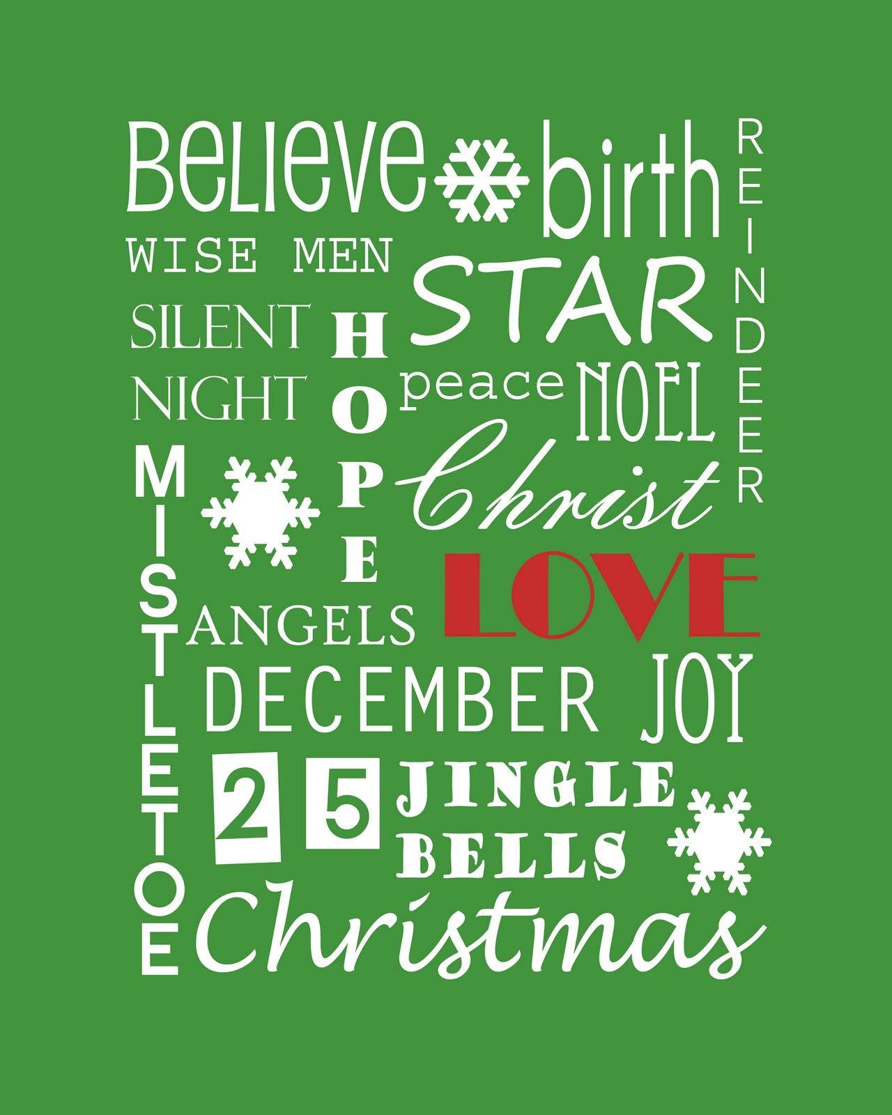 Christmas Subway Art Free Printable.Giveaway Winners And Christmas Subway Art Printable Sew