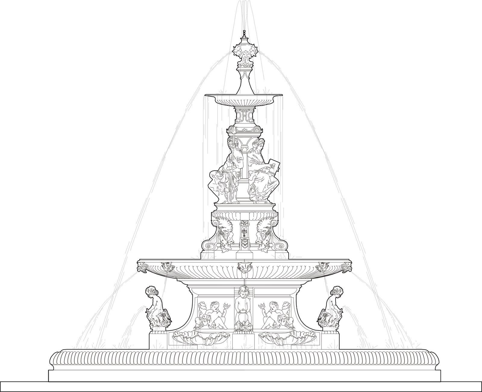 Chafariz Das Musas Praca Dom Pedro Ii Archcultura