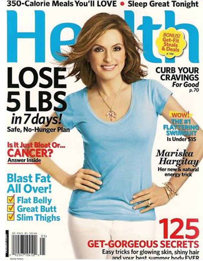 These Are Their Stories: Mariska Hargitay on Cover of Health ...