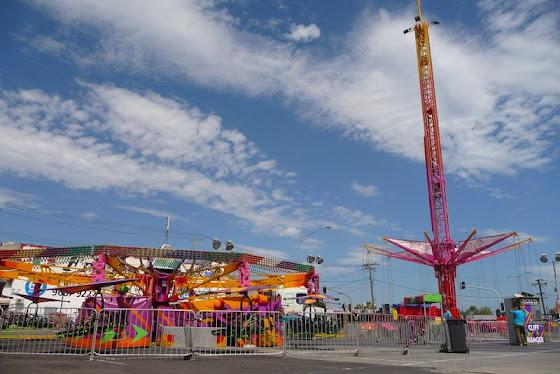 Así se veía el parque de diversiones ya armado en Melbourne