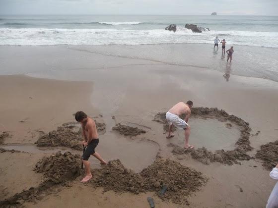 Hot Water Beach en Nueva Zelanda