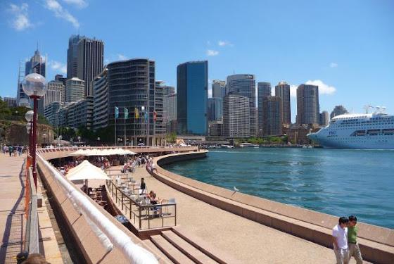 La orilla donde llegan los cruceros en Sydney