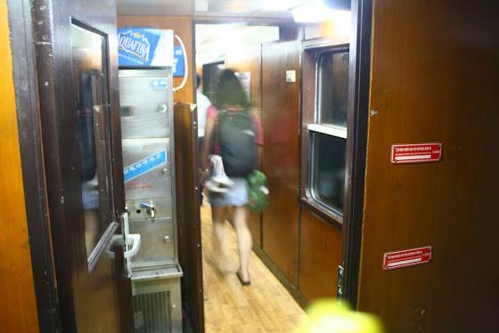 El interior del tren