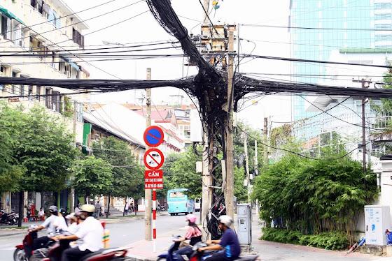 Cableado en Saigon, Vietnam