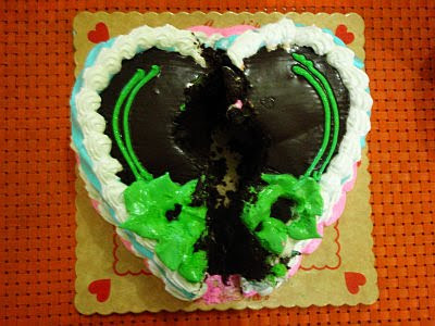 broken hearted cake