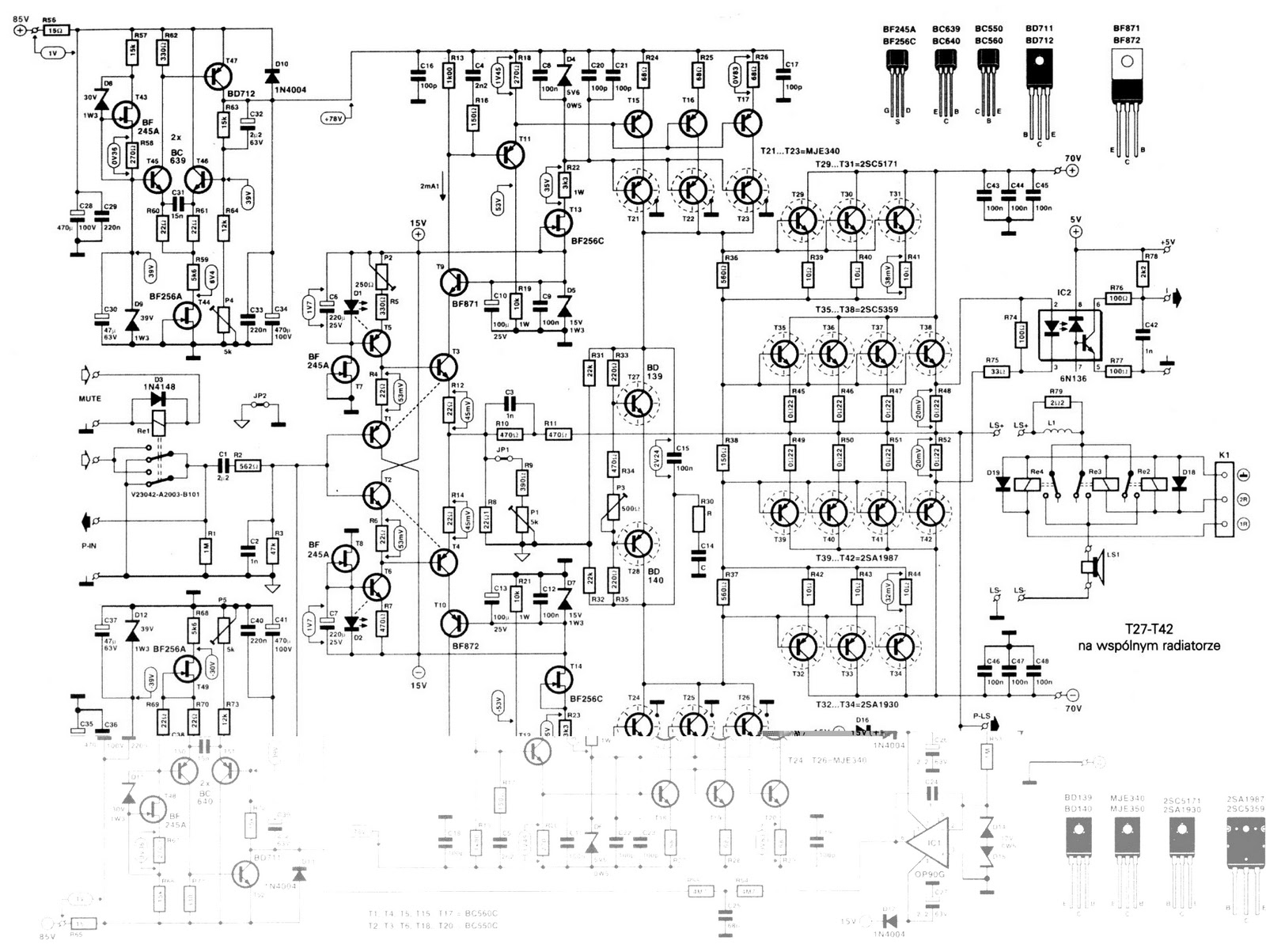 Skema Audio Power Amplifier Skema Ampli Power 1000 Watt