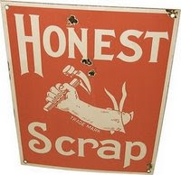 Honest Scrap Award-Thank you Brenda. and Leah
