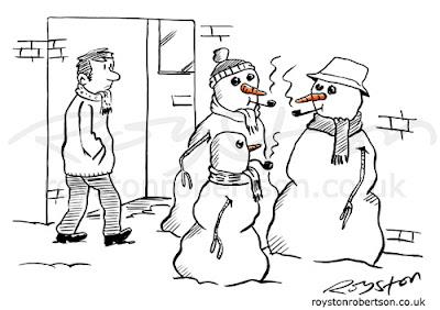 Royston Cartoons: Smoking cartoon: Not big or clever