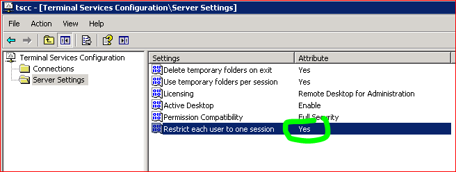Network Probe: Disabling Multiple RDP Session with same User