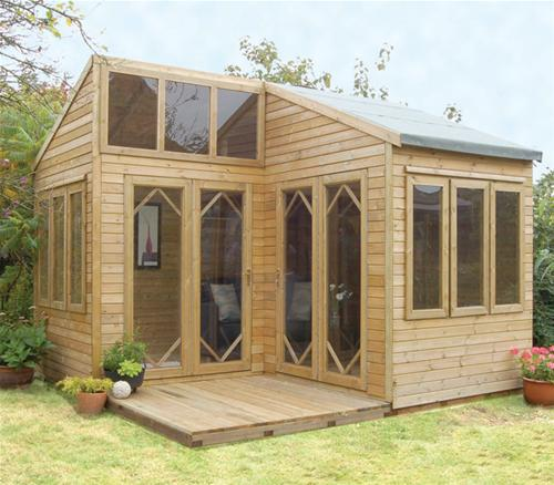 summer house office. Byron Modular Summerhouse - Corner Office Summer House Shedworking