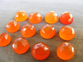 faceted carnelian cabochon
