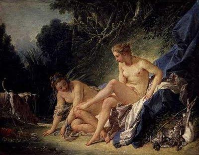 Boucher El Bano De Diana.Imaginarte Diana Saliendo Del Bano 1742