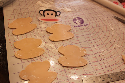 Crave indulge satisfy paul frank monkey birthday cake for Monkey face template for cake