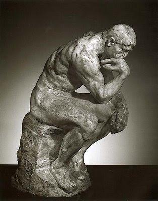 O pensador,  escultura de Augusto Rodin