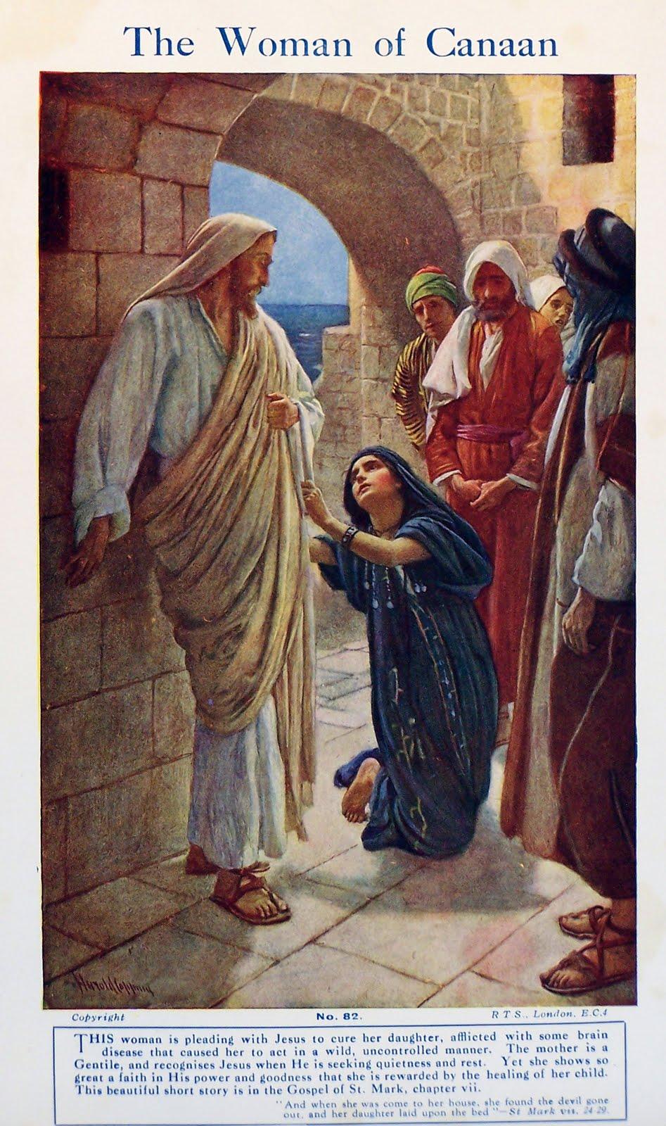 Jesus By Paulachan Jesus 29 With Canaanite Woman