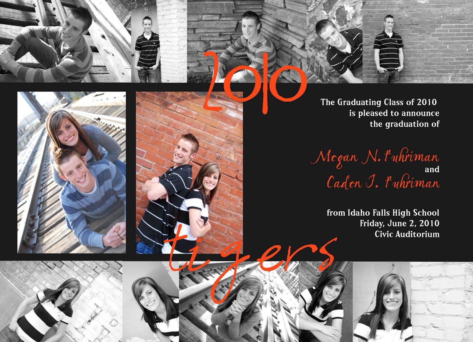 melissa belnap photography twin graduation announcement