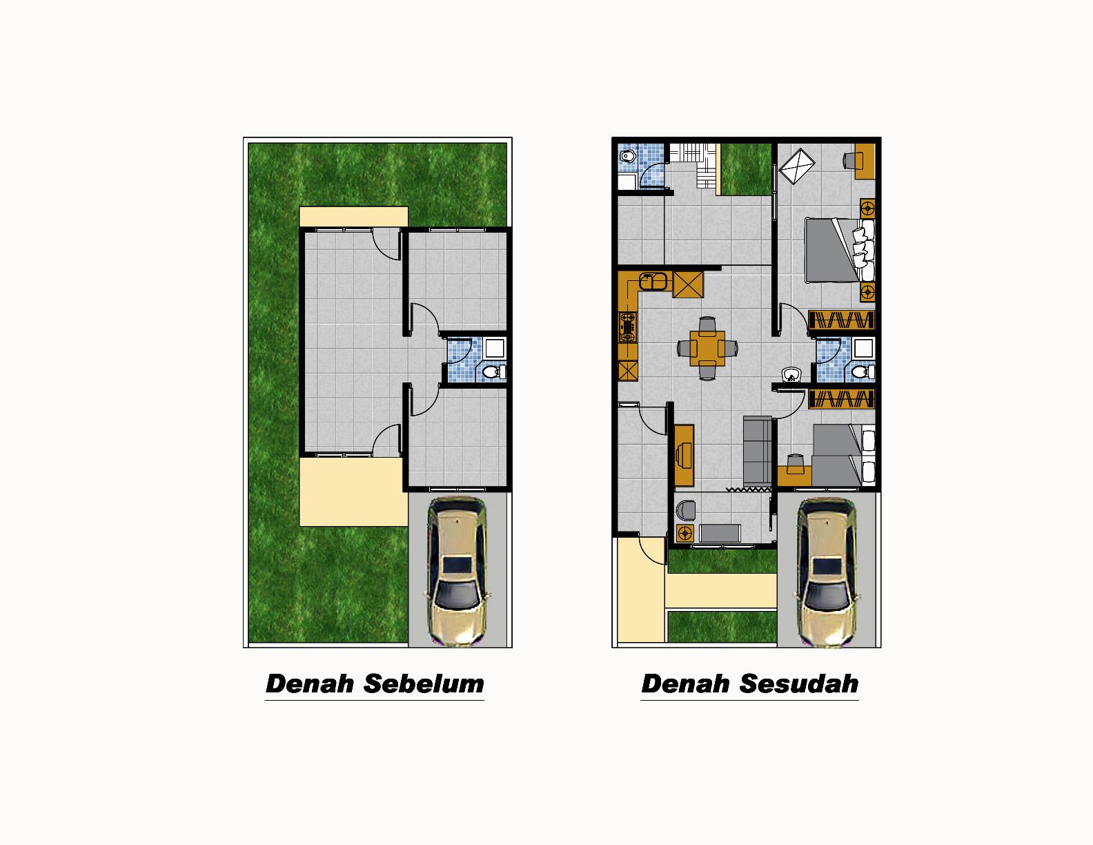 Contoh Desain Rumah Type 36 84