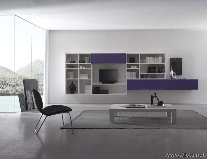 Mobili Soggiorno Viola ~ Tutto Ispirato Al Design Per La Casa