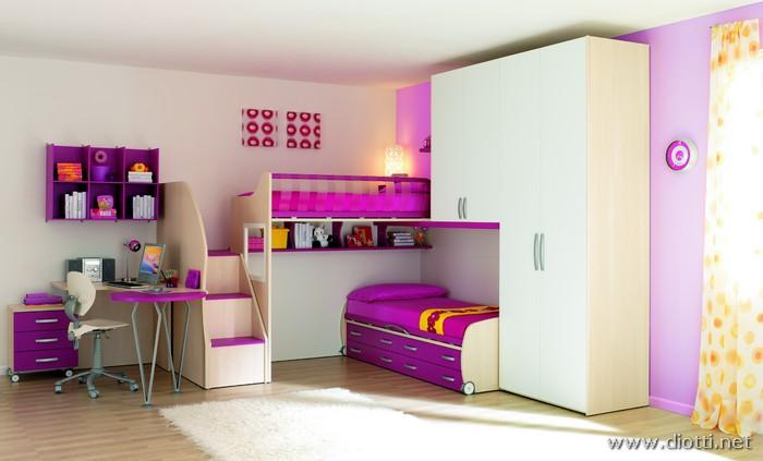 Arredamenti diotti a f il blog su mobili ed arredamento for Camere per ragazze