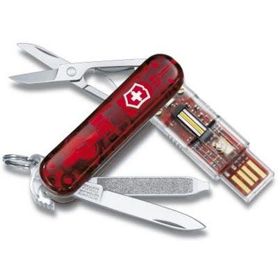 Canivete suíço, Pen Drive de 32 GB, Bluetooth etc.