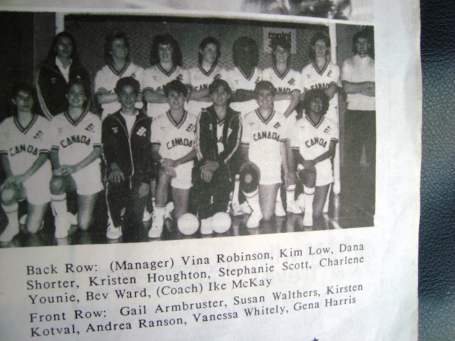 Canadian  Futsal Team Champions of  the Australia Challenge in Canada 1986.