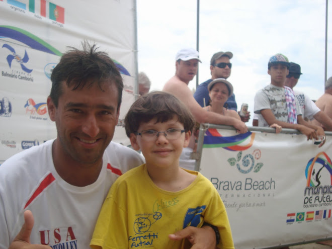 Lucas Miguel Mateus with Junior Pereira , USA futvoley National team In Brazil Grand Prix 2010
