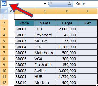 Membuat, Mengedit, dan Menghapus Defined Name pada Excel 2007