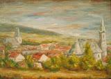 Panoráma Rače s kostolmi