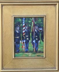 """Color guard"" 6x8 oiil on canvasboard SOLD"