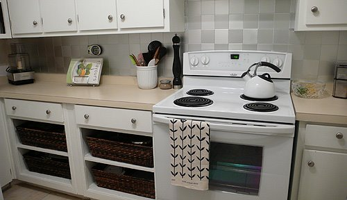 Curtain Kitchen Countertop