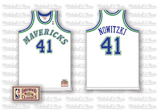 3a840e773fe ... Scott CunninghamNBAEGetty Dallas Mavericks sharp-shooter Dirk Nowitzki  is about to have a throwback issued by MitchellNess .