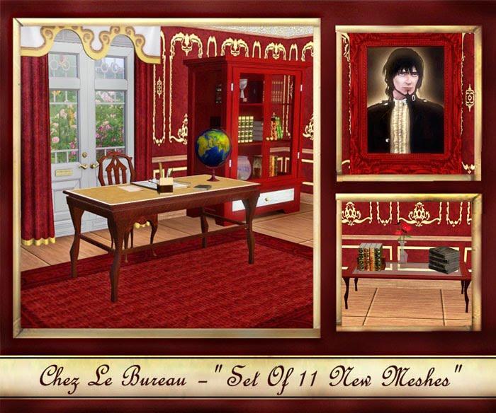 Victorian Study Room: My Sims 3 Blog: Chez Le Bureau