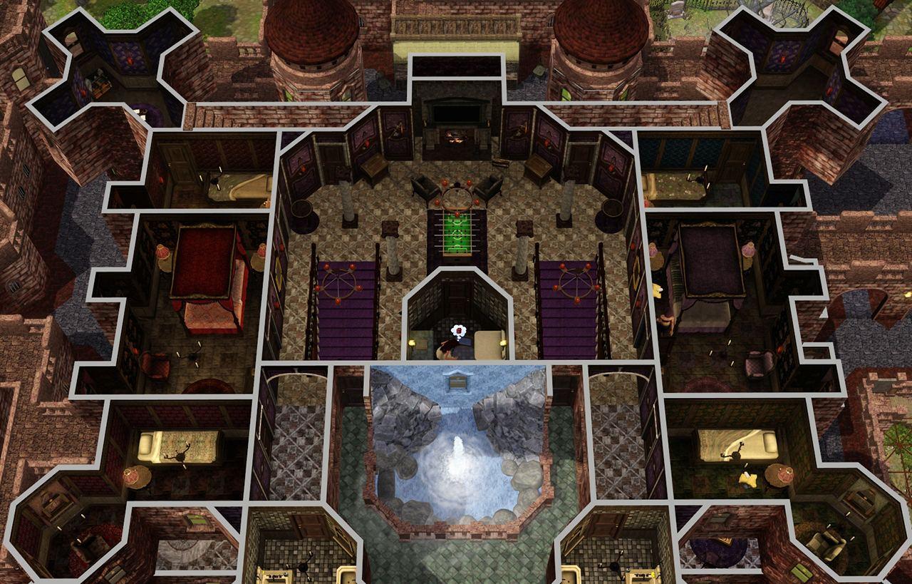 Hatley Castle Floor Plan The Sims 3 Castle Floor Plans