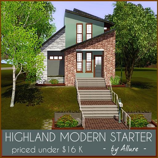 My Sims 3 Blog: Highland Modern Starter