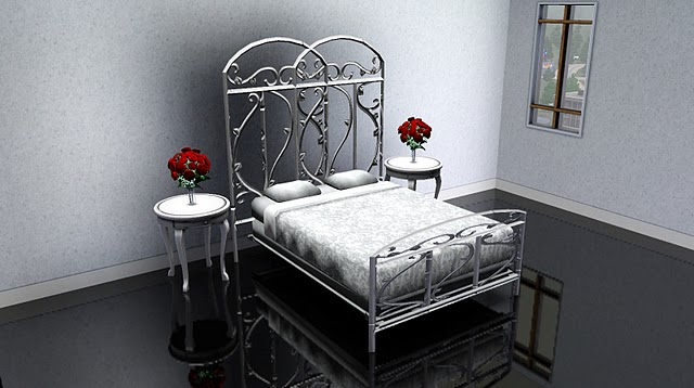 Beds Awesome Wrought Iron Sleigh Bed Wrought Iron Sleigh: My Sims 3 Blog: Wrought Iron Bedroom Set, Fence And