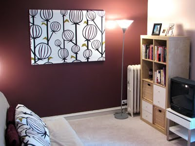 How To Make Fabric Panel Wall Art How About Orange