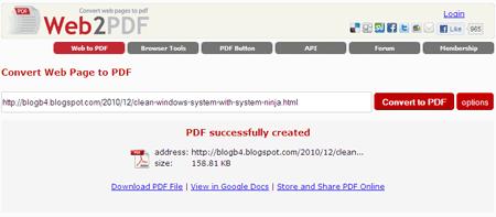 free online url to pdf converter