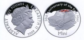 The Royal Mint Releases 50th Anniversay MINI Cooper Coin