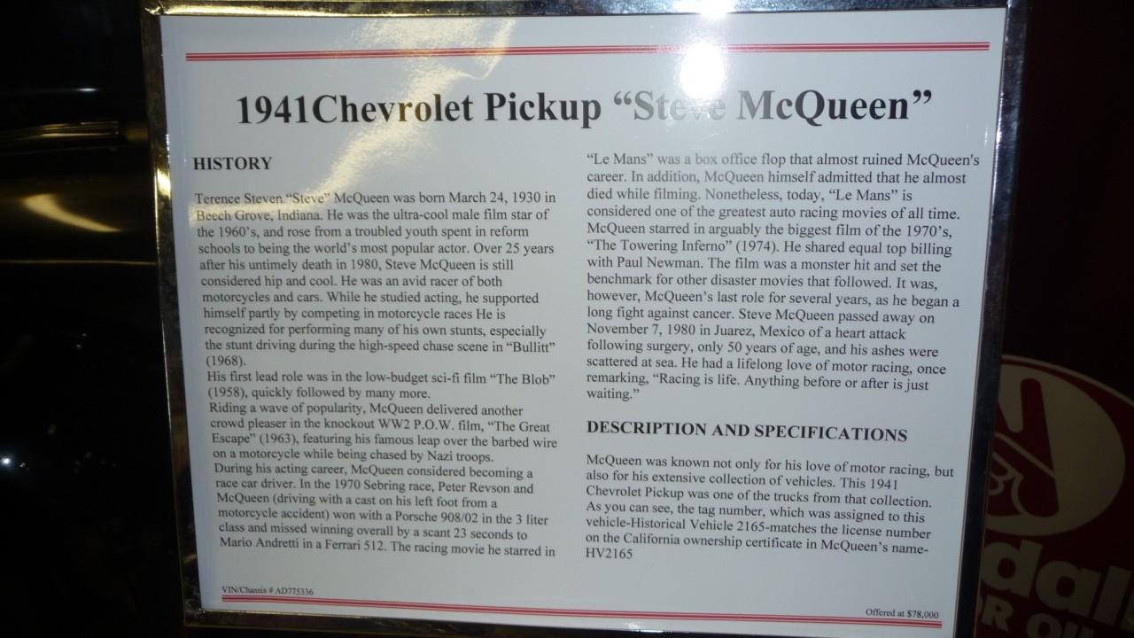 Steve McQueen's Truck on Ebay