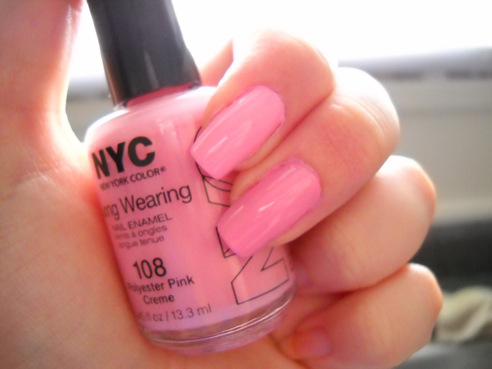 Beauty Nails Wet N Wild S Tickled Pink Vs N Y C S Polyester Pink Creme