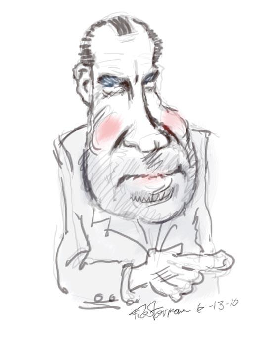 Richard Nixon Costume: William Fiesterman One Painting Or Drawing Per Day