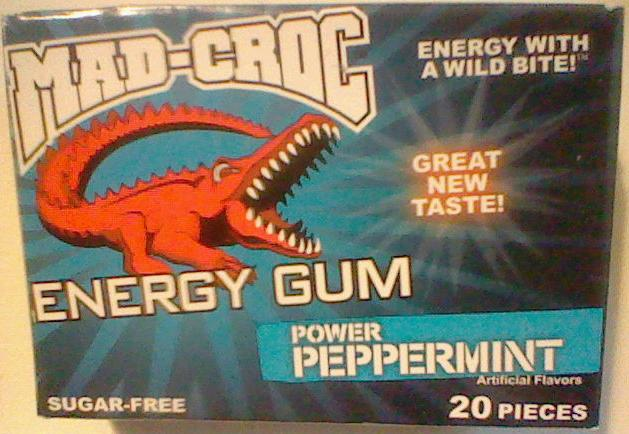 Caffeine King Mad Croc Power Peppermint Energy Gum Review